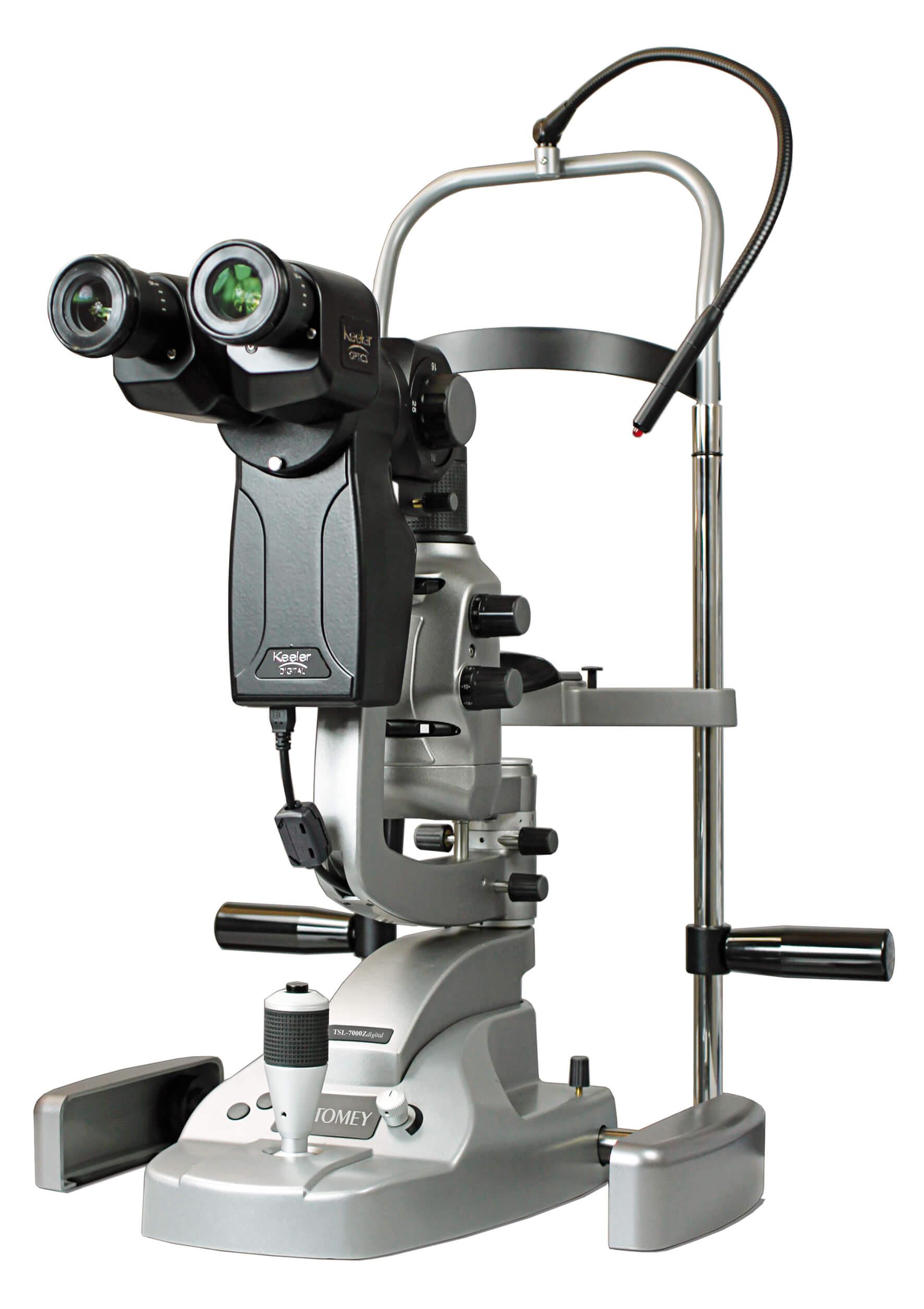 Tomey TSL-7000Z - Zeiss-tyylinen rakovalomikroskooppi