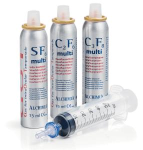 Silmäkirurginen kaasu - SF6, C2F6 ja C3F8