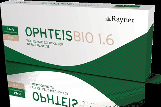 Koheesiivinen hyaluronihappo silmäkirurgiaan - Rayner OphteisBIO 1.6